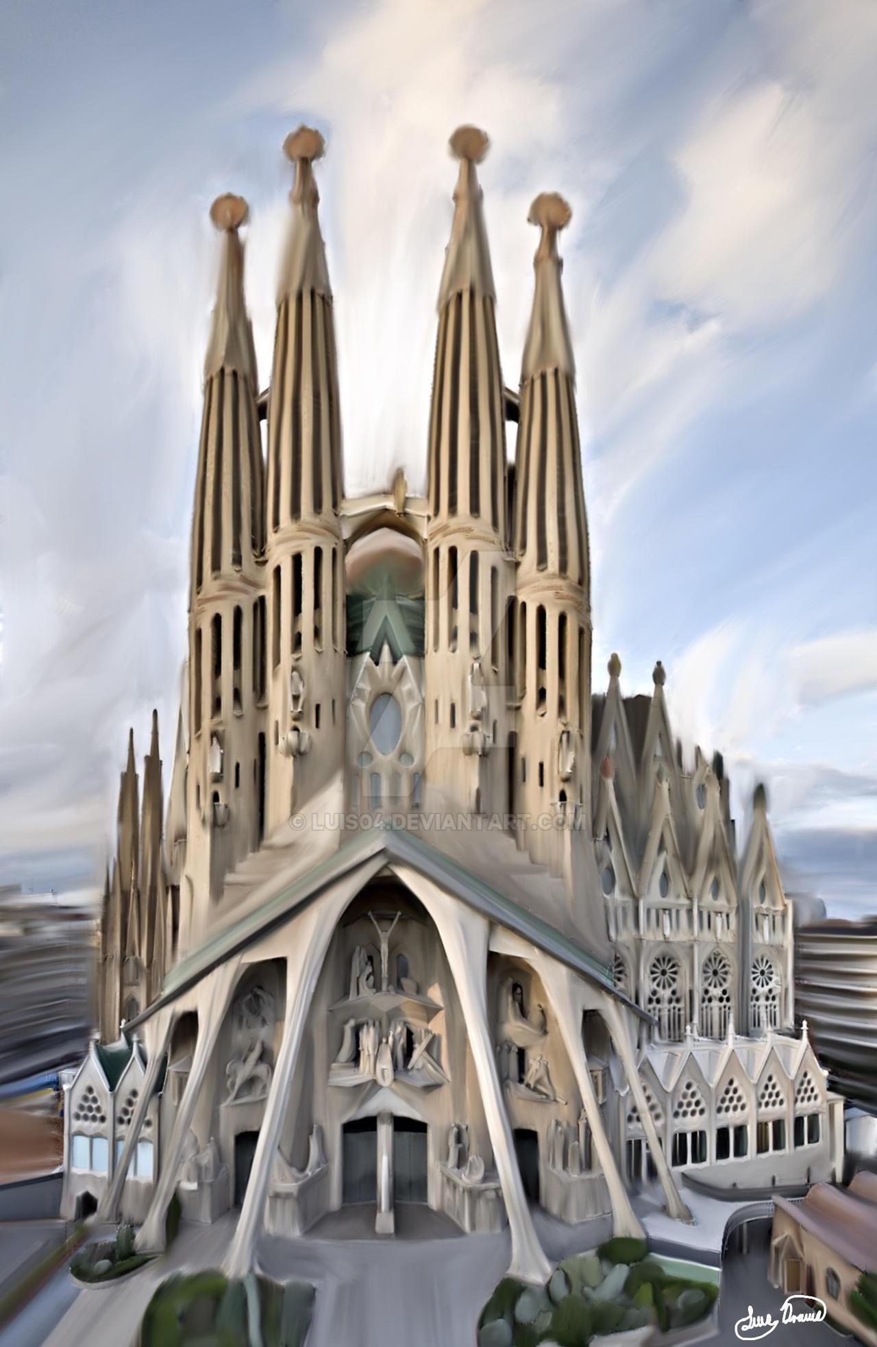 Templo expiatorio de la sagrada familia by luis04 on for De la sagrada familia