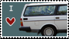 Station Wagon Love Stamp by Marbletoast