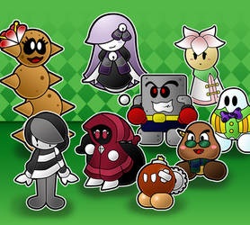 Paper Mario The Unstory Book Partners by AntsyLaMasque