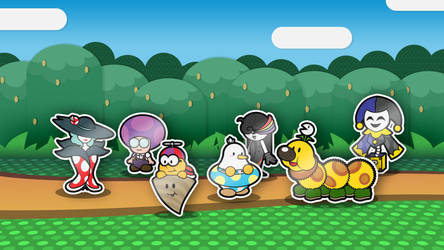New Paper Mario Partners by AntsyLaMasque