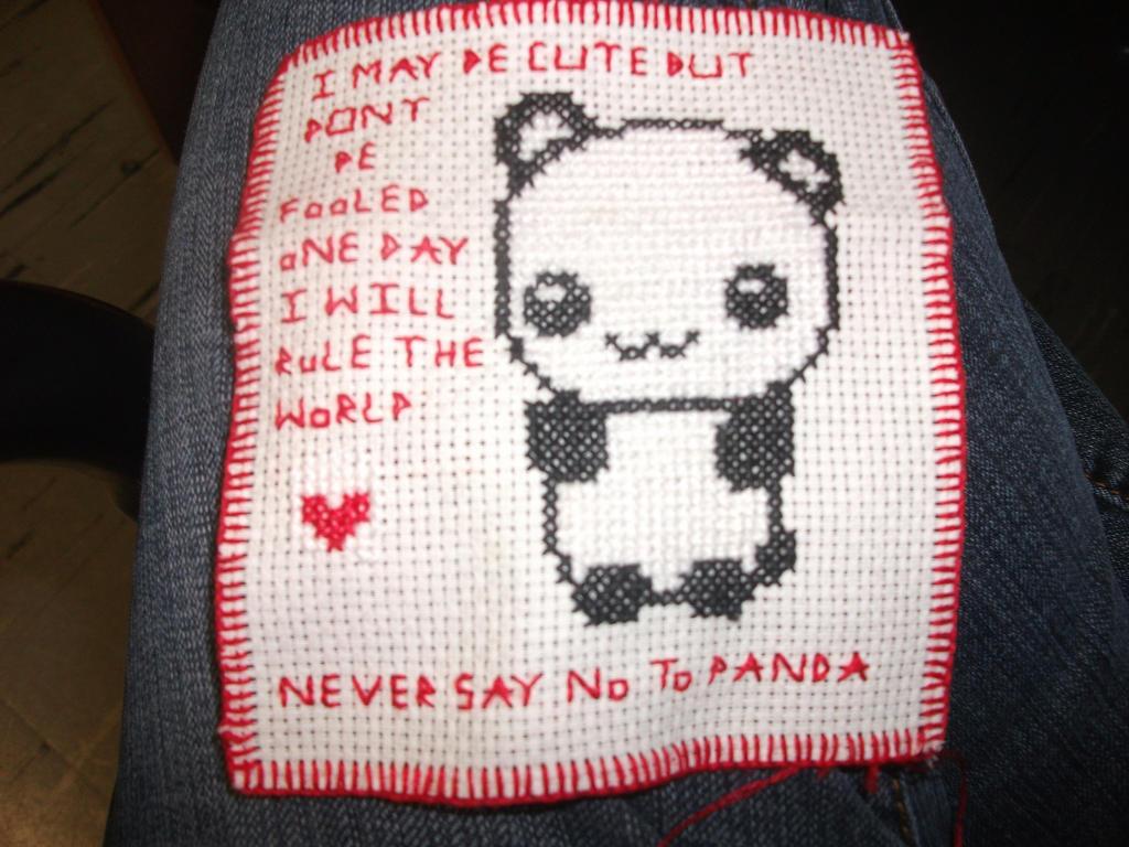 Never say no to panda cross stitch