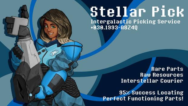 Stellar Pick Mock Business Card
