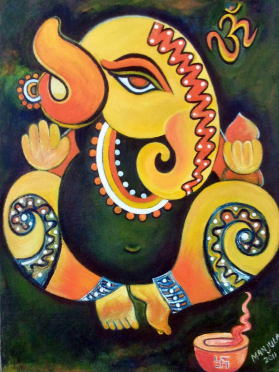 ganesha paintings modern art - photo #8