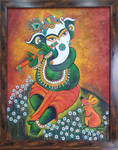 Ganesha with Flute and Crown by manjulak