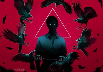 Mesmerizing circle of Crows