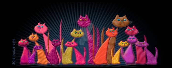 Vector Cats 2016 10th aniversary edition v3