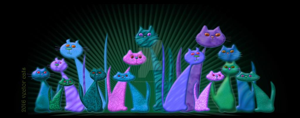 Vector Cats 2016 10th aniversary edition v2
