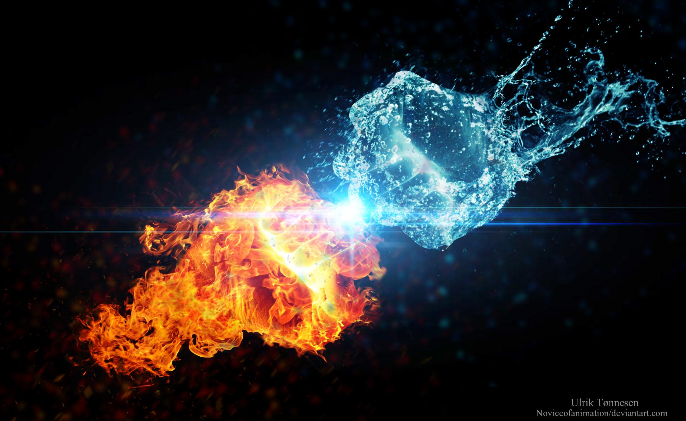 Fire Vs Water By Noviceofanimation On Deviantart