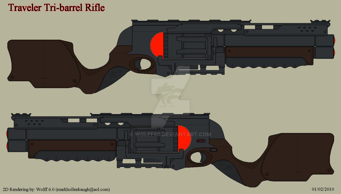 Traveler Tri Barrel Rifle By Wolff60 On Deviantart