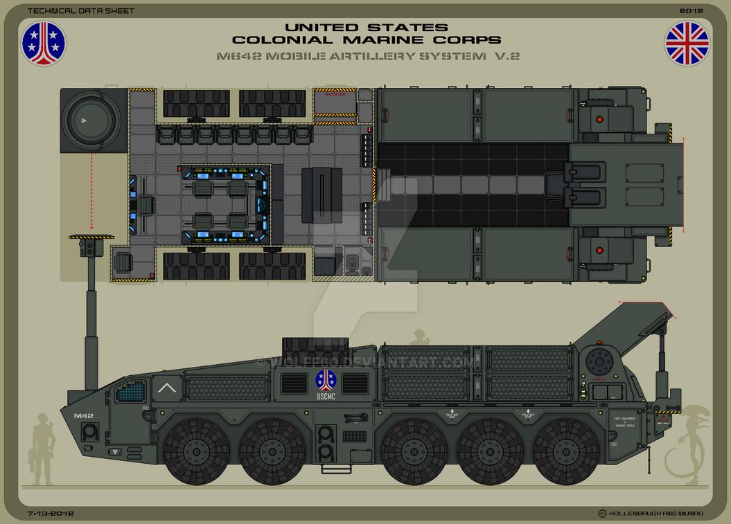 USCMC M642 Mobile Artillery V.2 by Wolff60