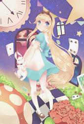 Alice in wonderland by NezhieI