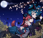 Under the moon by NezhieI