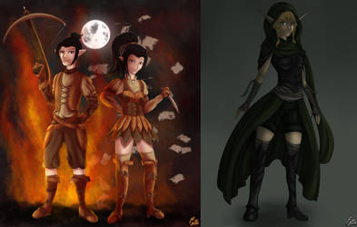 DND characters by poolvosje