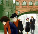 Watari,Aiber,Wedy and L
