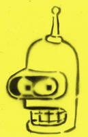 Bender STENCIL by crusty-punk