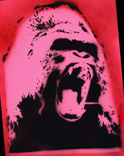 Love Ape-STENCIL by crusty-punk