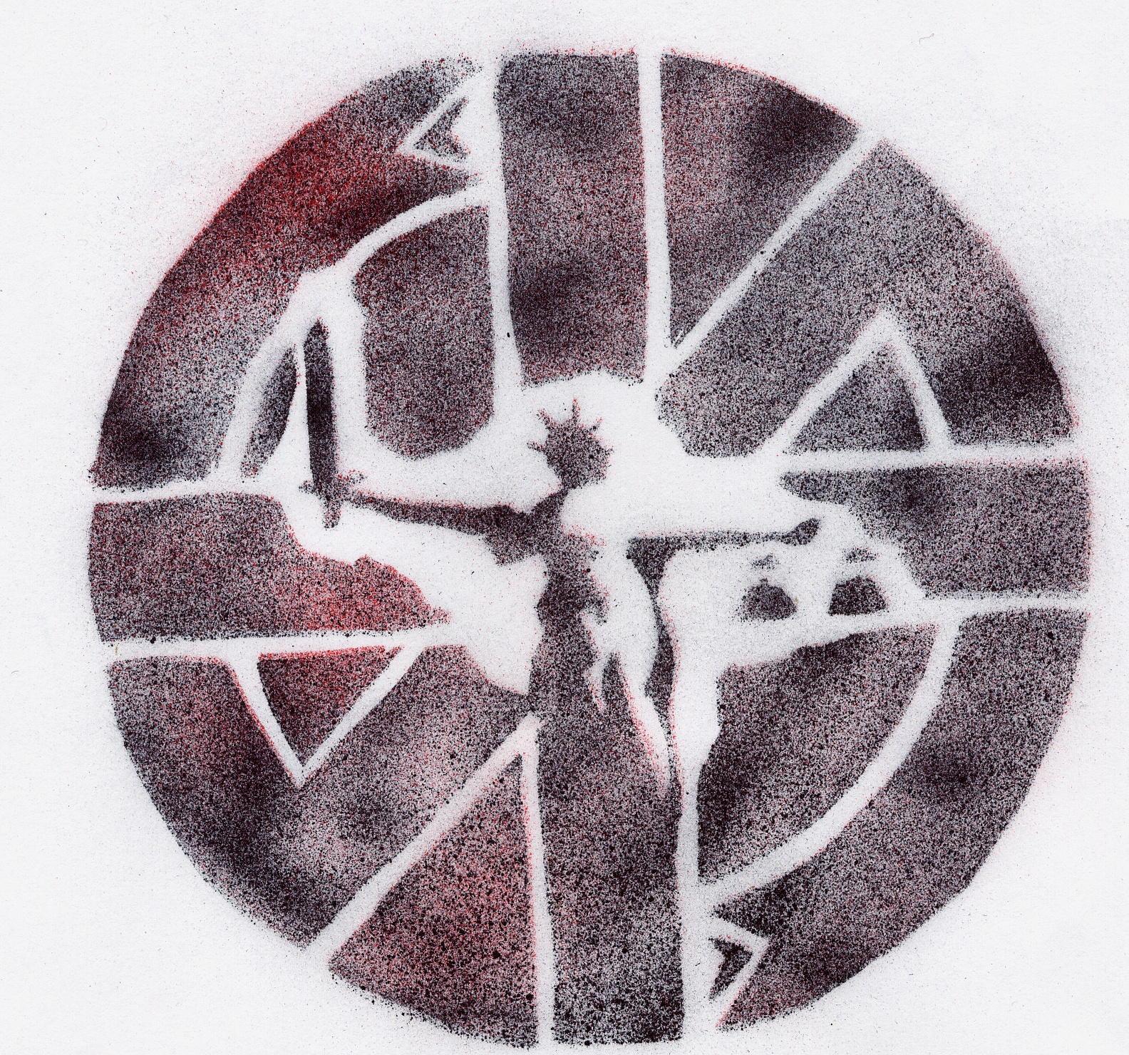 Crass justice logo stencil