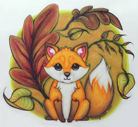 Foxes in Fall