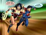 SUPERMAN AND WONDER WOMAN - Amazing race.