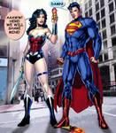 Wonder Woman and Superman: Ice cream.