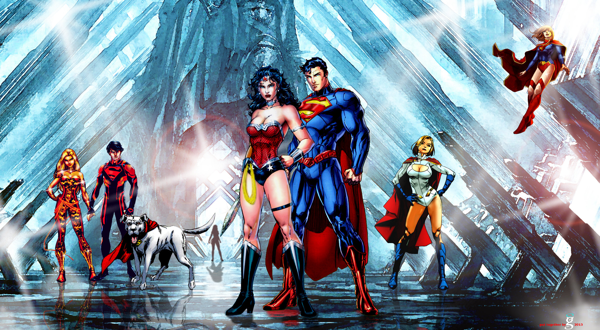 Superman and Wonder Woman-Meeting at the Fortress.