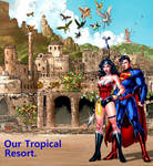 Superman and Wonder Woman in Themyscira
