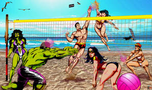 At the beach: Volley