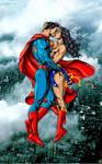 Superman and Wonder Woman  by Jack Herbert - edit