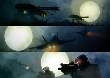 Moonforce Sketches by PredatoryApe