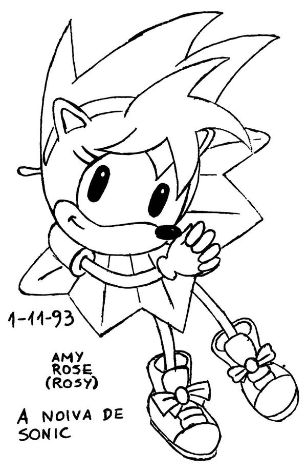 Classic Sonic Ring Coloring Pages