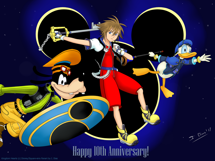 Kingdom Hearts 10th anniversary by StarlightMemories