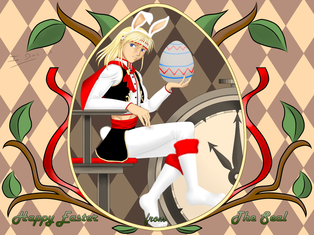 Easter2013 - The White Rabbit by StarlightMemories