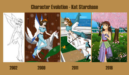 Character Evolution - Kat Starchase by StarlightMemories