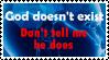 The atheist stamp by Yoshi-chu