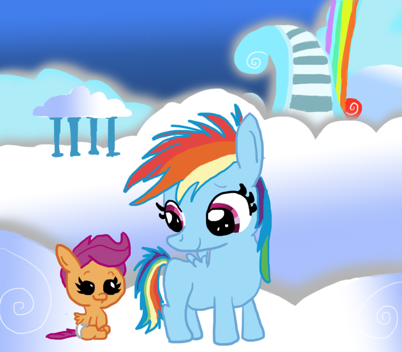 Filly Rainbow Dash Meets Baby Scootaloo By Phillipthepuma On Deviantart Baby jaguar the cutie @godiegogofan220 28 окт. filly rainbow dash meets baby scootaloo