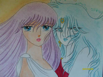 Eris and Athena old drawing by ECVcm