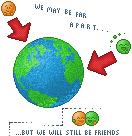 Far but friends by Kath602