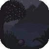 Night over a lake by Kath602