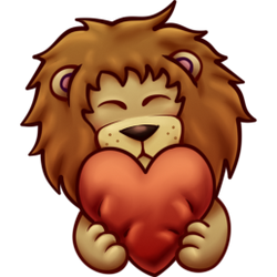 Lion heart hug emote