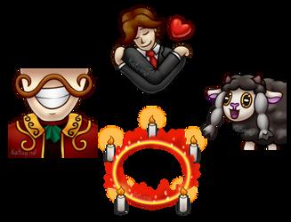 RTGame Hug Villain Cupcake Circle emotes