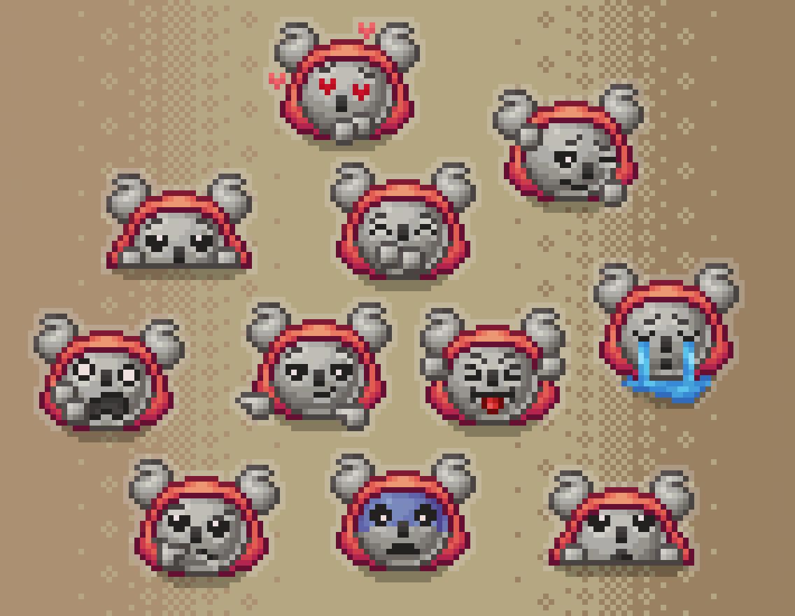 Koala emotes commission