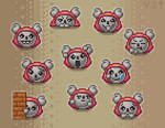 Koala emotes commission v2 by Katuend