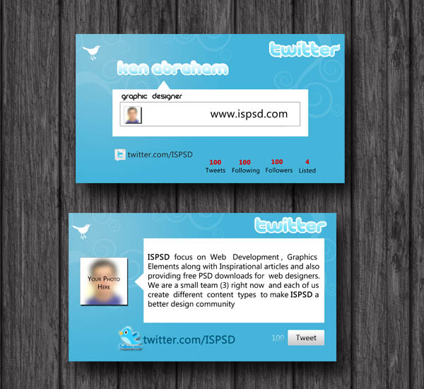 Twitter Card PSD Template by hdalive on DeviantArt