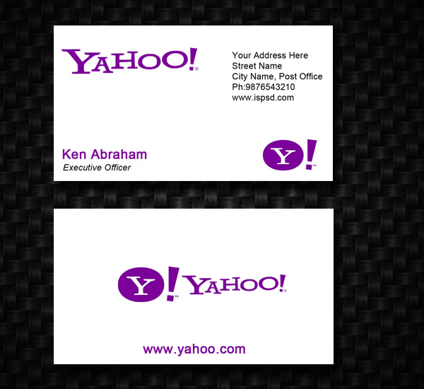 Yahoo business card psd template by hdalive on deviantart yahoo business card psd template by hdalive colourmoves