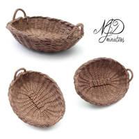 Oval Basket - NJD Miniatures by NJD-Miniatures