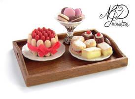 Sweet Treats Tray - NJD Miniatures