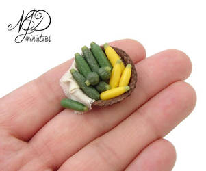 Courgette Basket - NJD Miniatures by NJD-Miniatures