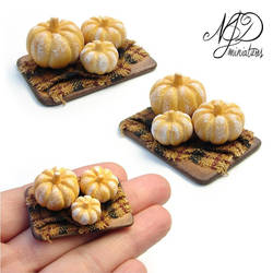 Pumpkin Shaped Bread by NJD Miniatures by NJD-Miniatures