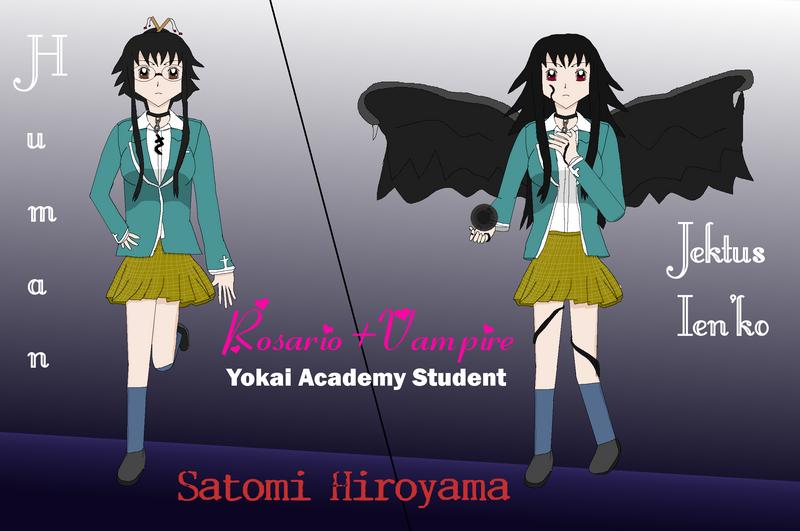 Satomi, Yokai Student (for contest) by kokorohane