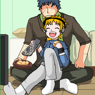 [Request] Mike and Gerald watching TV by kokorohane